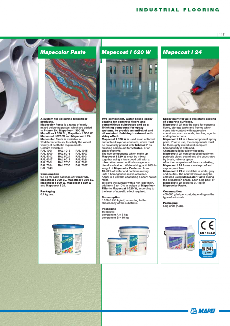 Pagina 119 - Catalog mortare, materiale speciale MAPEI Mapegrout Easy Flow GF, Mapegrout SV,...
