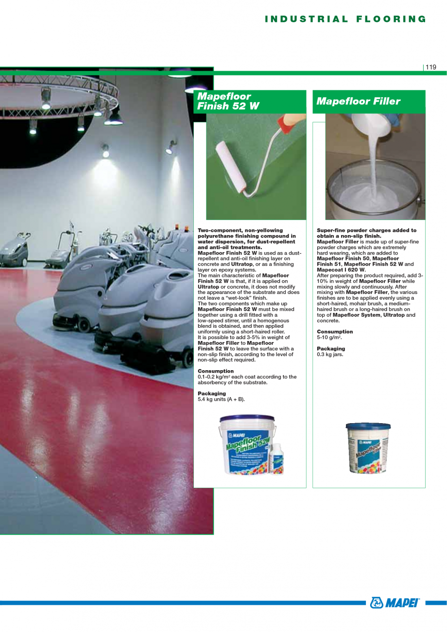 Pagina 121 - Catalog mortare, materiale speciale MAPEI Mapegrout Easy Flow GF, Mapegrout SV,...