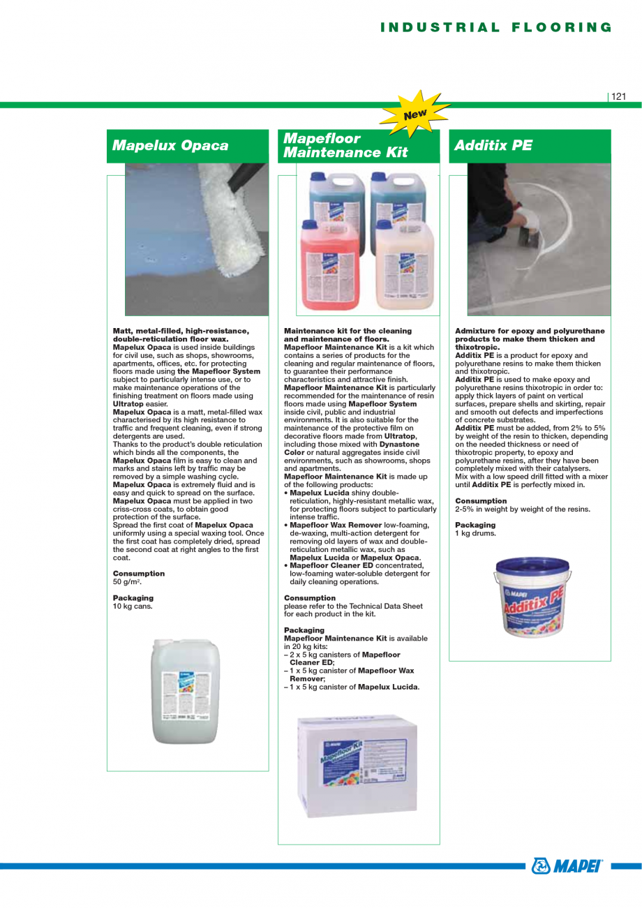 Pagina 123 - Catalog mortare, materiale speciale MAPEI Mapegrout Easy Flow GF, Mapegrout SV,...