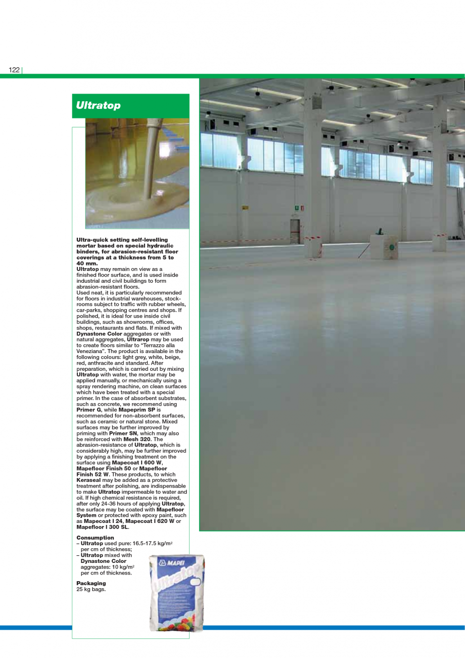 Pagina 124 - Catalog mortare, materiale speciale MAPEI Mapegrout Easy Flow GF, Mapegrout SV,...