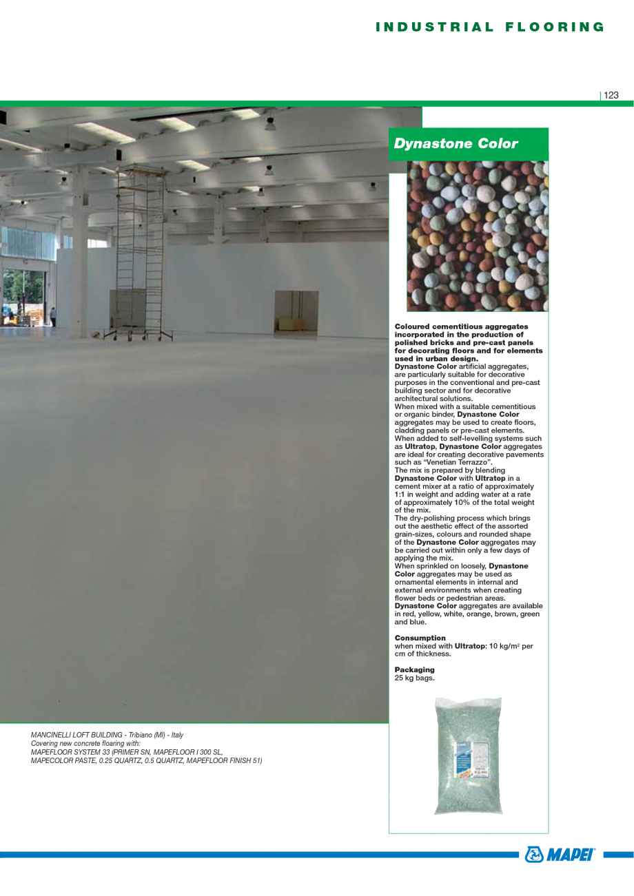 Pagina 125 - Catalog mortare, materiale speciale MAPEI Mapegrout Easy Flow GF, Mapegrout SV,...