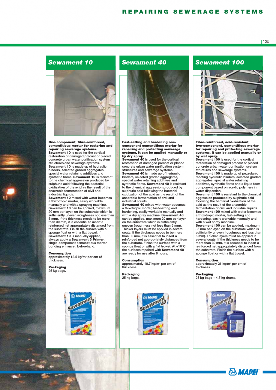 Pagina 127 - Catalog mortare, materiale speciale MAPEI Mapegrout Easy Flow GF, Mapegrout SV,...