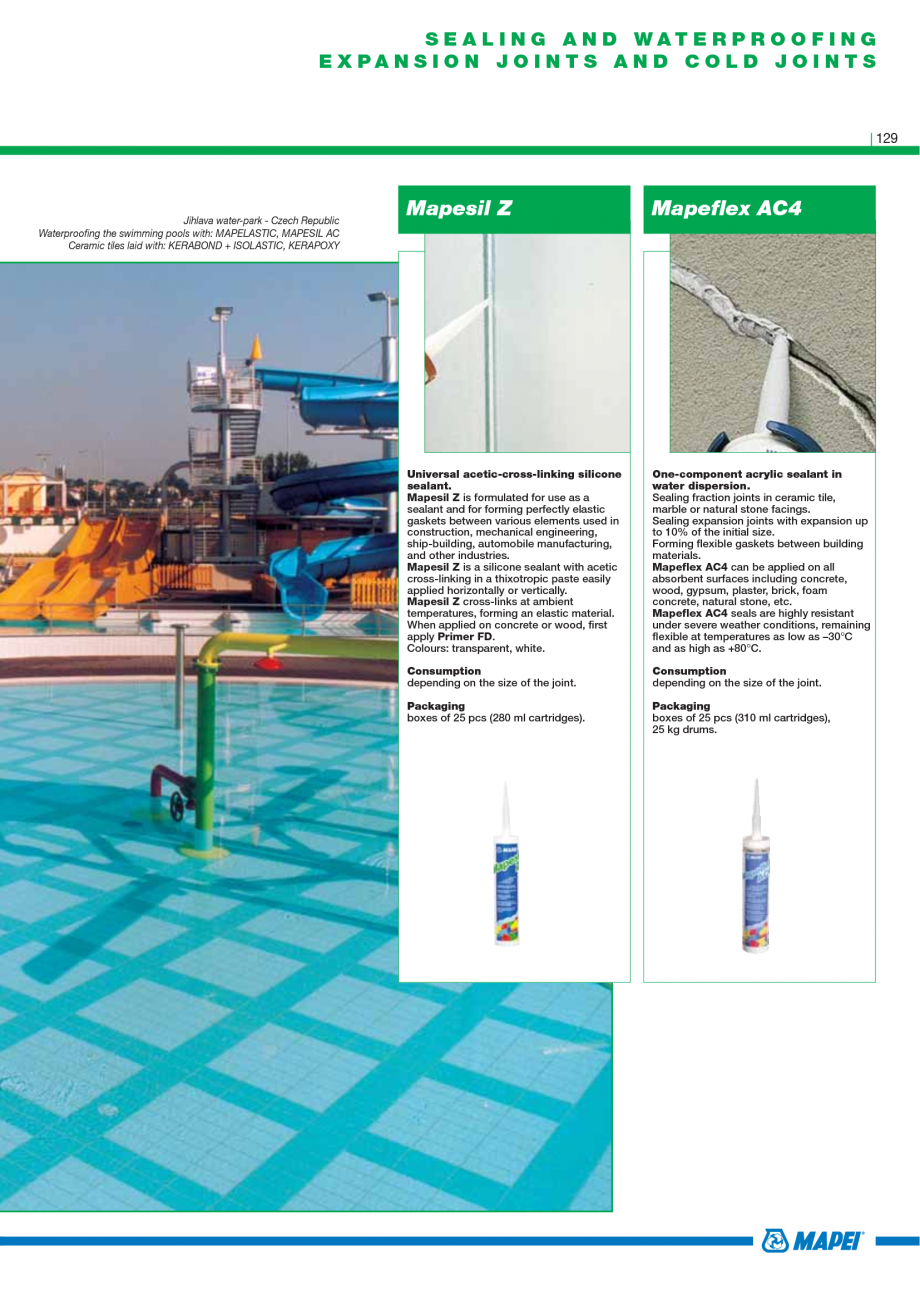 Pagina 131 - Catalog mortare, materiale speciale MAPEI Mapegrout Easy Flow GF, Mapegrout SV,...