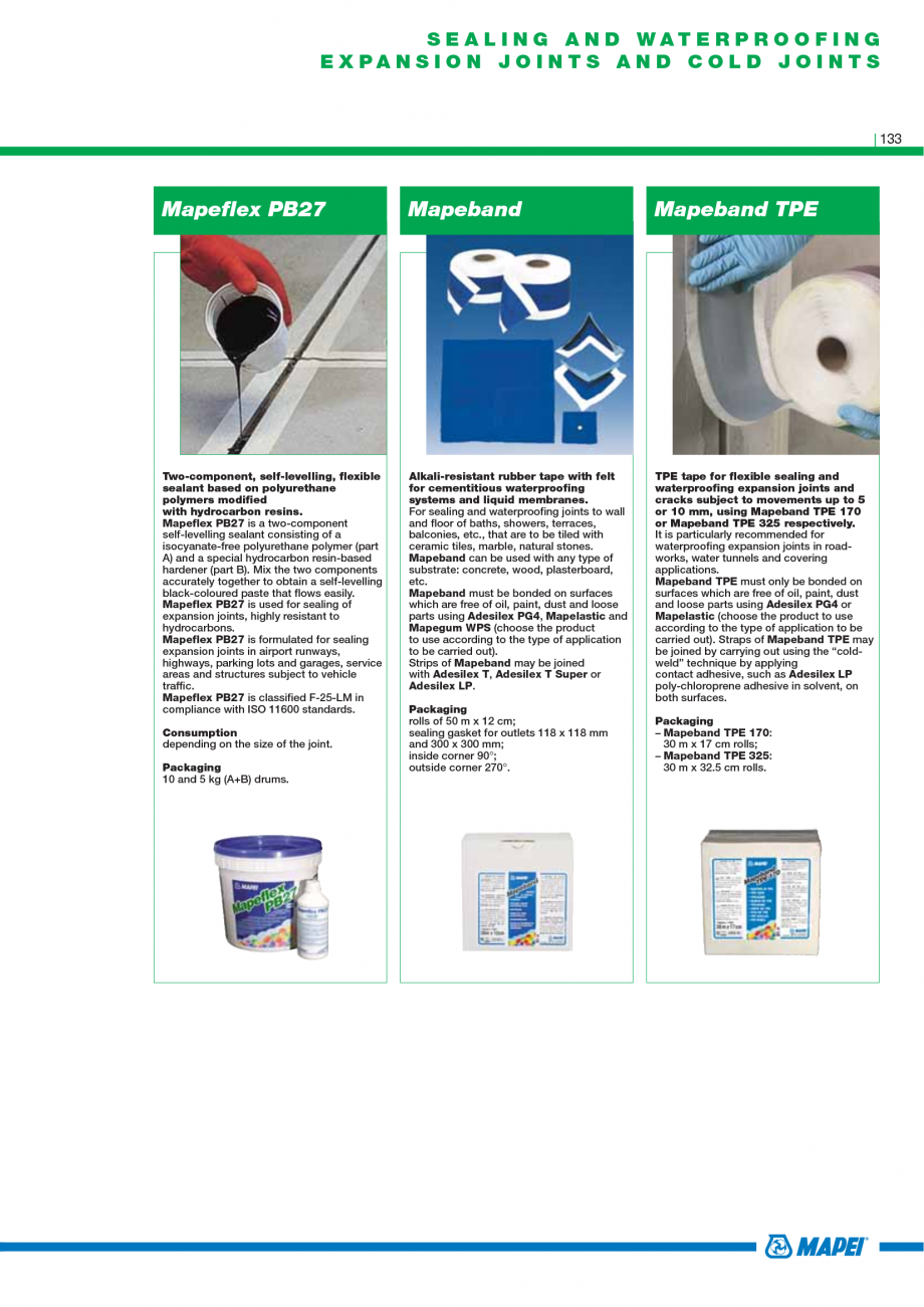 Pagina 135 - Catalog mortare, materiale speciale MAPEI Mapegrout Easy Flow GF, Mapegrout SV,...