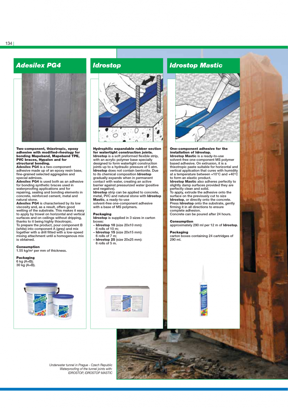Pagina 136 - Catalog mortare, materiale speciale MAPEI Mapegrout Easy Flow GF, Mapegrout SV,...