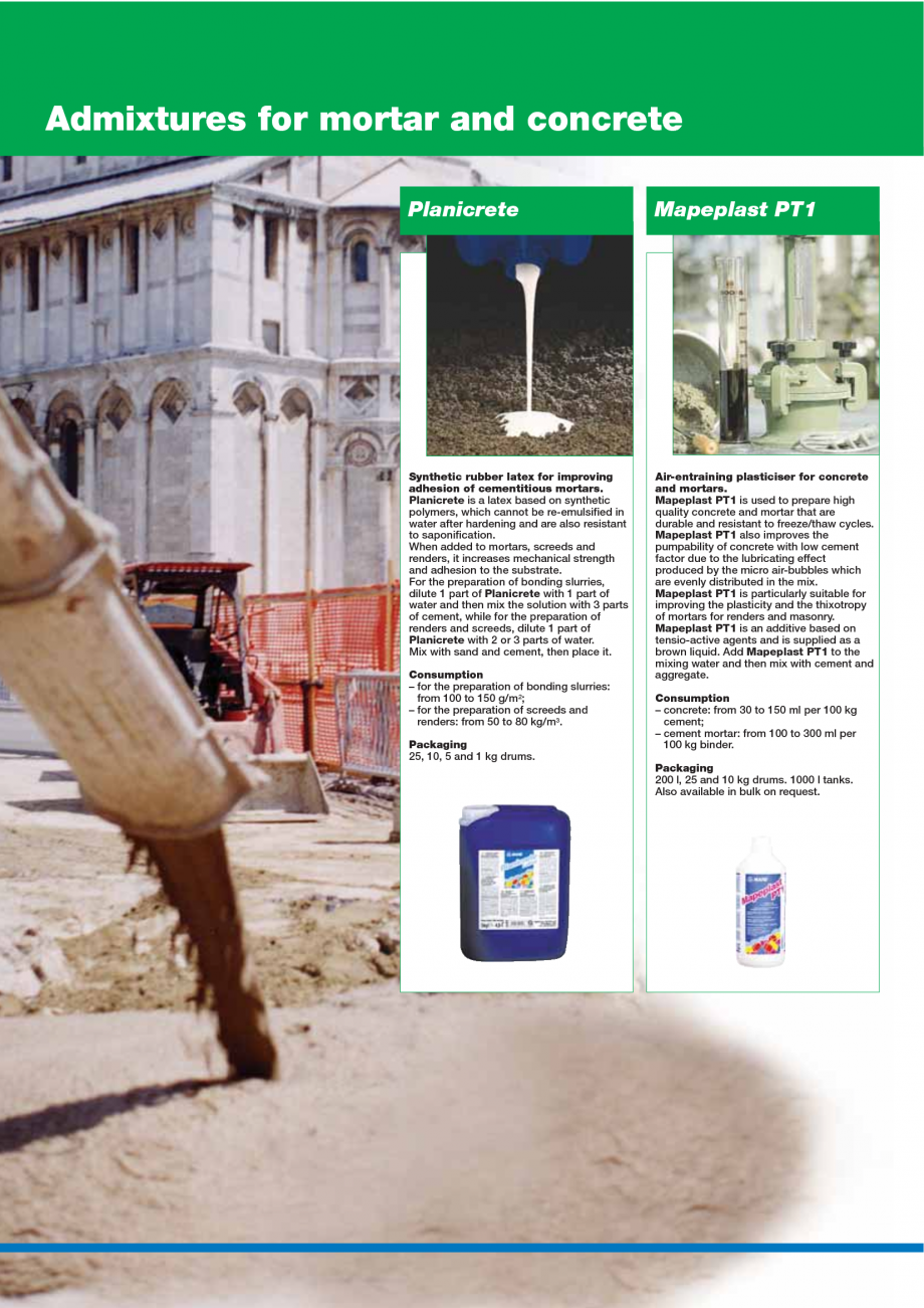 Pagina 138 - Catalog mortare, materiale speciale MAPEI Mapegrout Easy Flow GF, Mapegrout SV,...