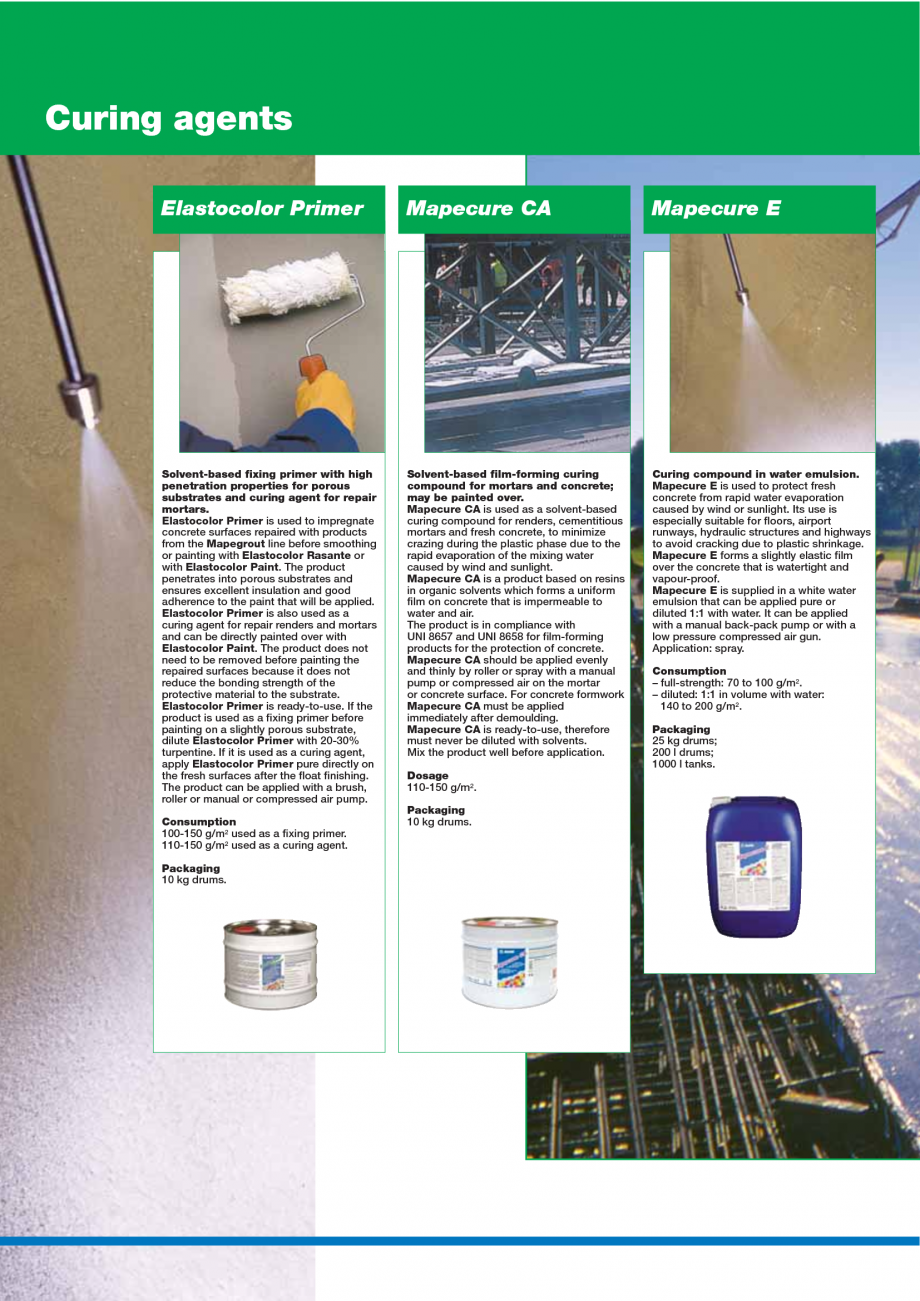 Pagina 142 - Catalog mortare, materiale speciale MAPEI Mapegrout Easy Flow GF, Mapegrout SV,...