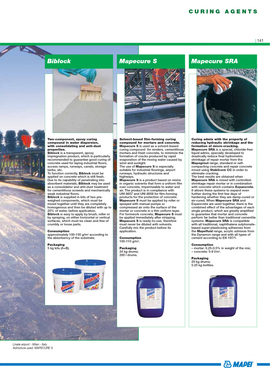 Pagina 143 - Catalog mortare, materiale speciale MAPEI Mapegrout Easy Flow GF, Mapegrout SV,...