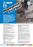 Mortar monocomponent, cu contractie controlata, cu priza si intarire rapida MAPEI - Mapegrout SV Fiber