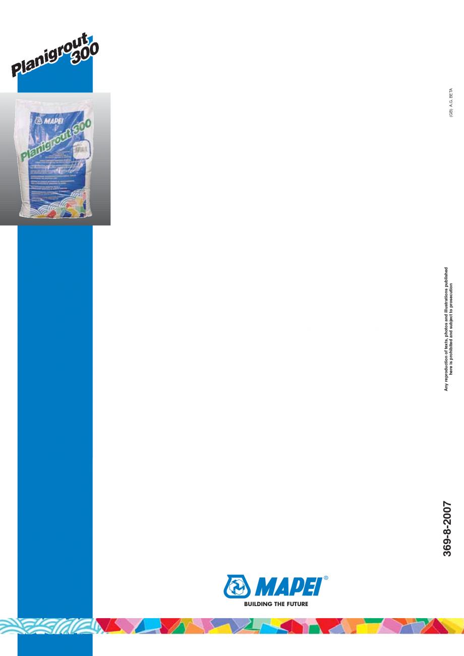 Pagina 4 - Mortar epoxidic tricomponent, cu consistenta fluida MAPEI Planigrout 300 Fisa tehnica...