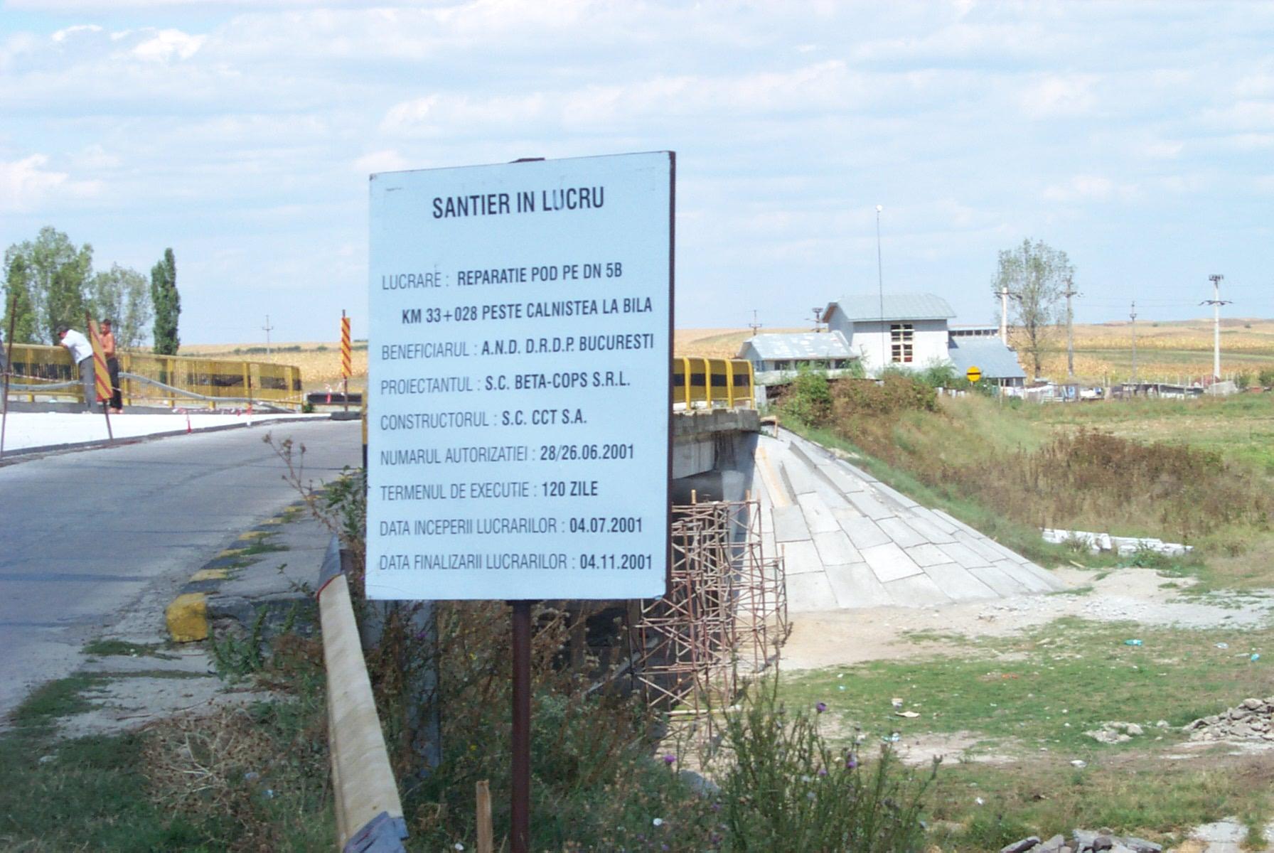 Reparatii pod (DN2), Km. 33 - 028, peste raul Calnistea MAPEI - Poza 1