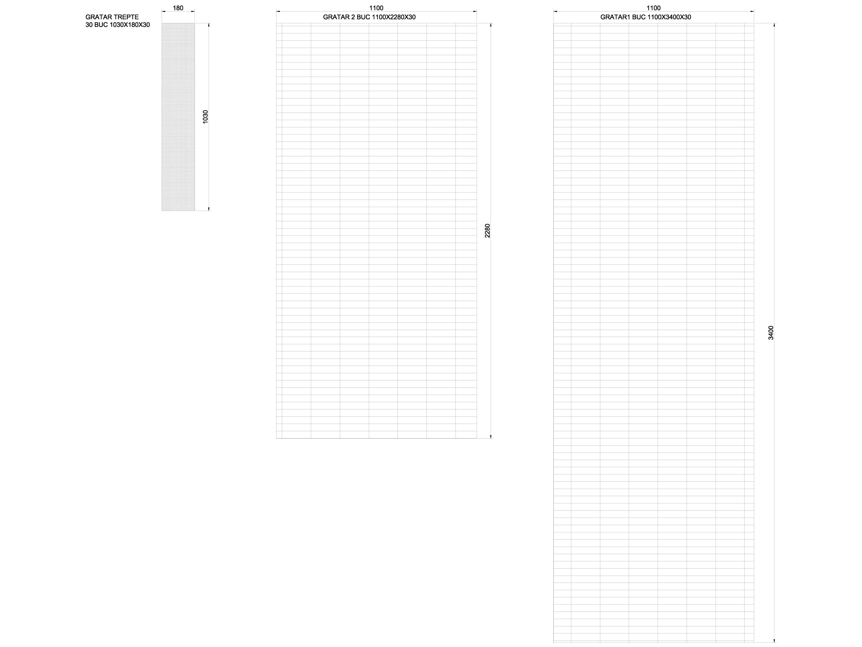 Pagina 1 - CAD-DWG Gratare GRIRO Detaliu de produs TIP 1, TIP 2, TIP 3, TIP 4