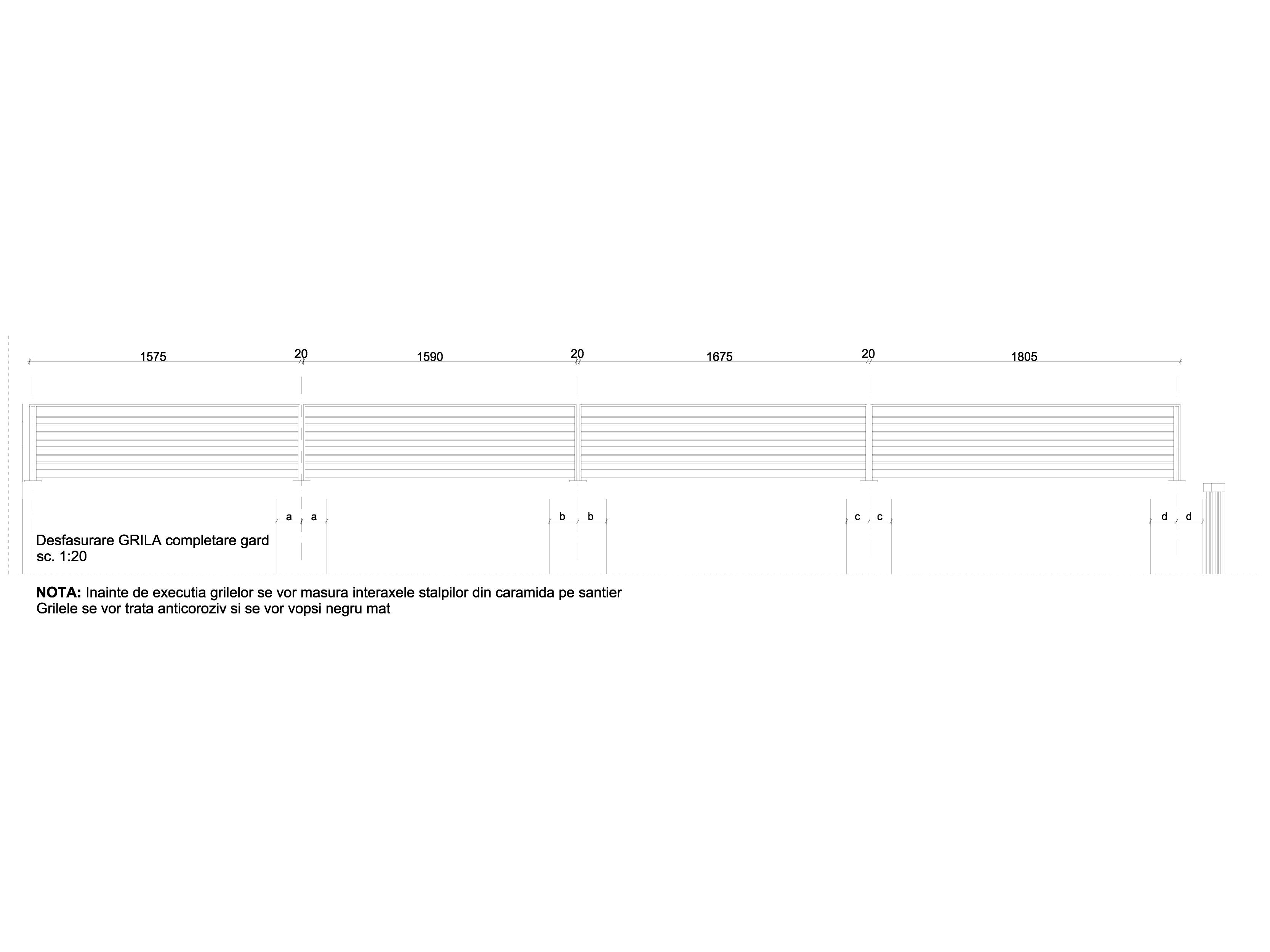 Pagina 1 - CAD-DWG Desfasurare grila completare gard GRIRO Detaliu de montaj TIP 1, TIP 2, TIP 3,...