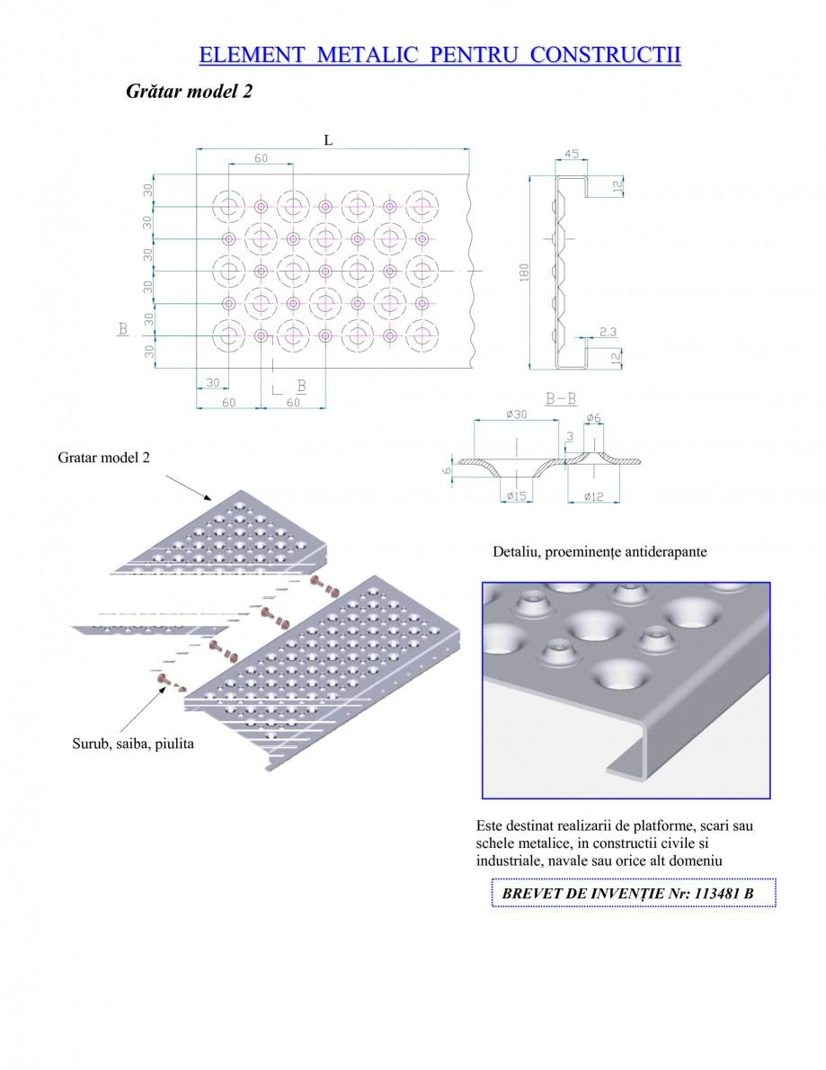 Pagina 1 - Gratar metalic GRIRO TIP 2 Fisa tehnica Romana ELEMENT METALIC PENTRU CONSTRUCTII...