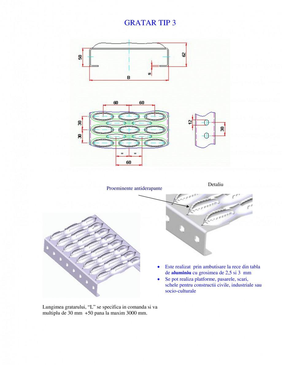 Pagina 1 - Gratar metalic GRIRO TIP 3 Fisa tehnica Romana GRATAR TIP 3  Proeminente antiderapante  ...