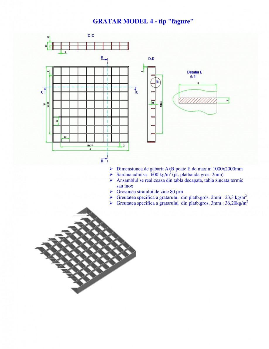Pagina 1 - Gratar metalic GRIRO TIP 4 Fisa tehnica Romana GRATAR MODEL 4 - tip