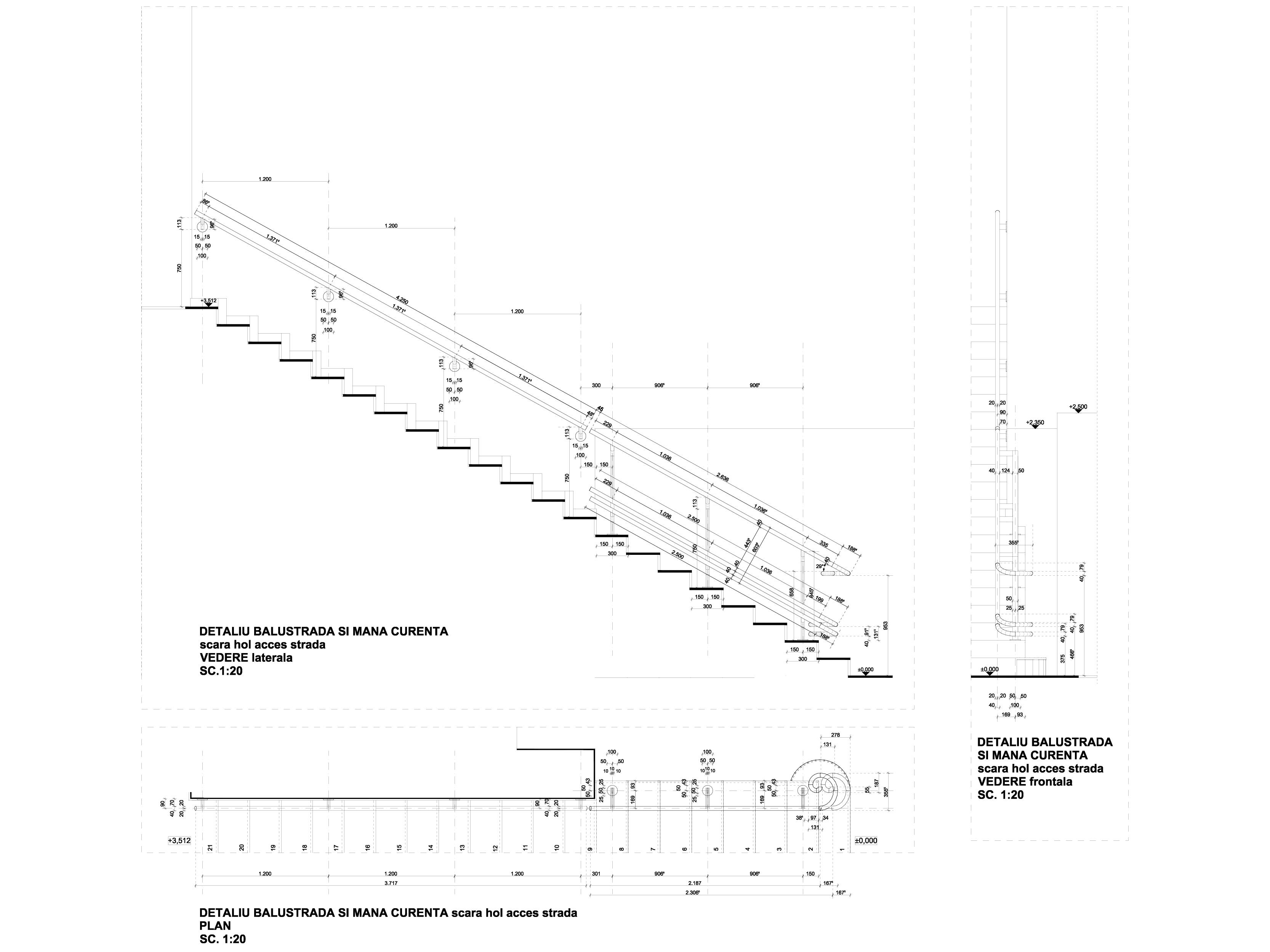 Pagina 1 - CAD-DWG Detaliu balustrada si mana curenta GRIRO Detaliu de montaj Tabla expandata