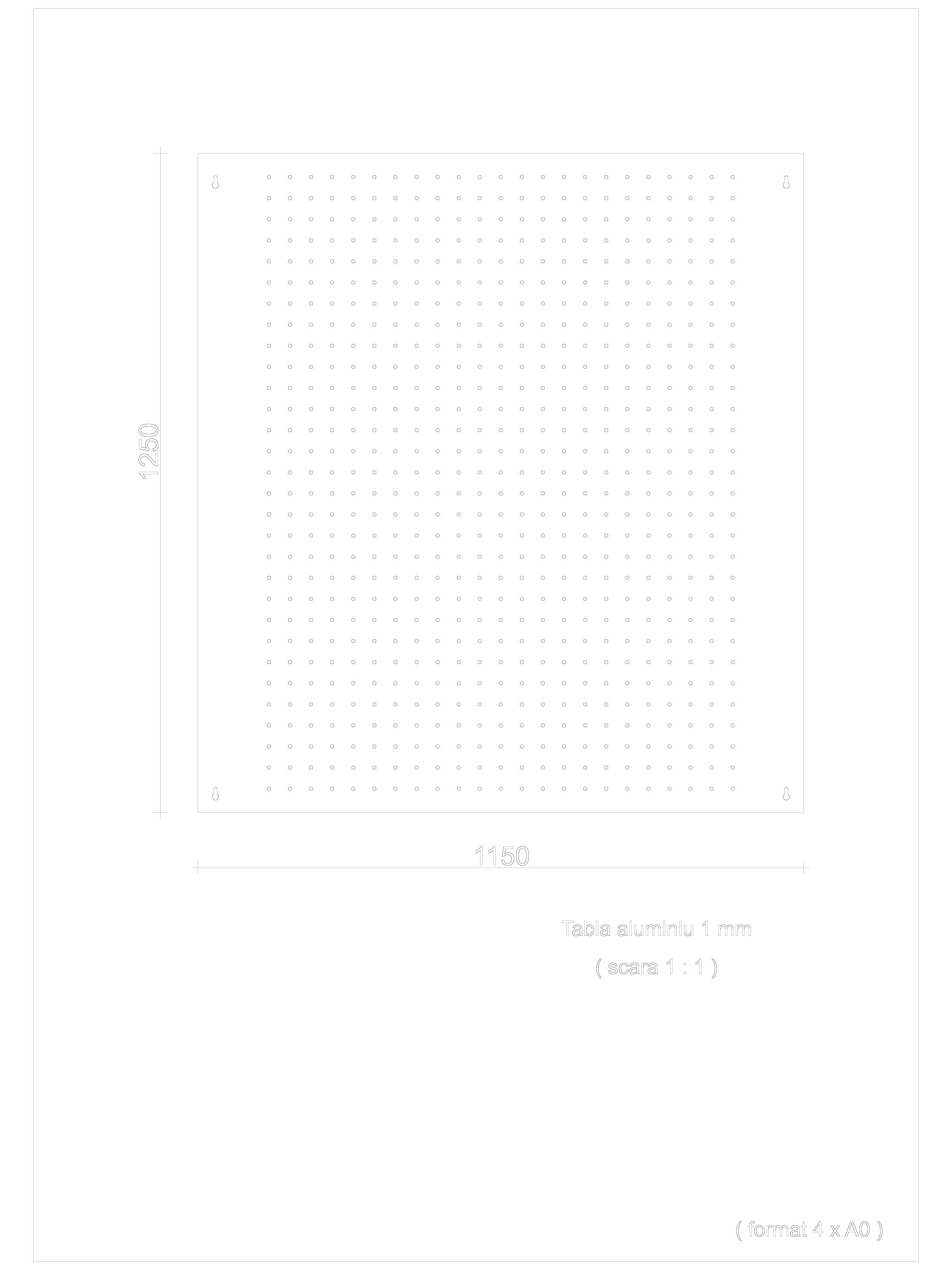 Pagina 1 - CAD-DWG Panou perforat GRIRO Detaliu de montaj Tabla expandata