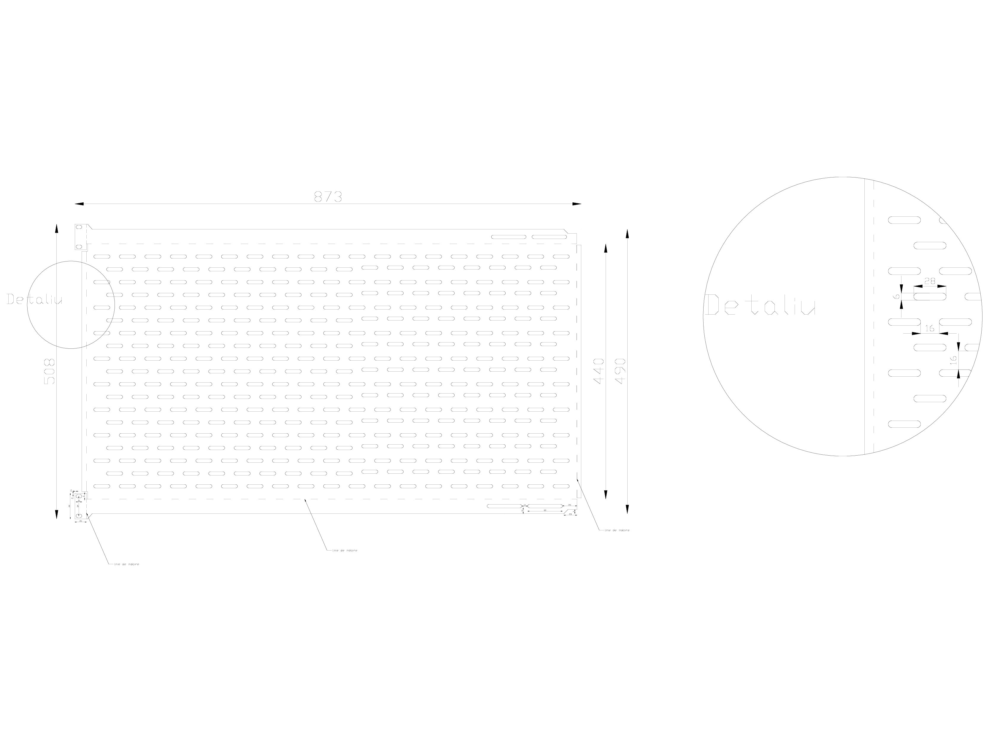 Pagina 1 - CAD-DWG Model tabla perforata GRIRO Detaliu de montaj Tabla expandata