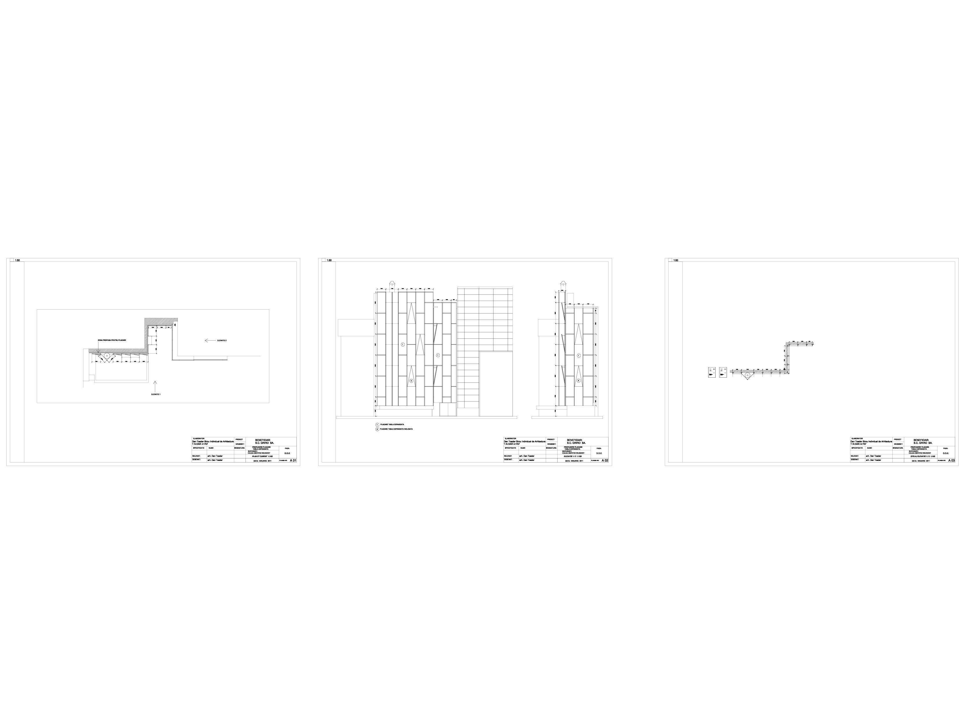 Pagina 1 - CAD-DWG Propunere placare cu tabla expandata GRIRO Detaliu de montaj