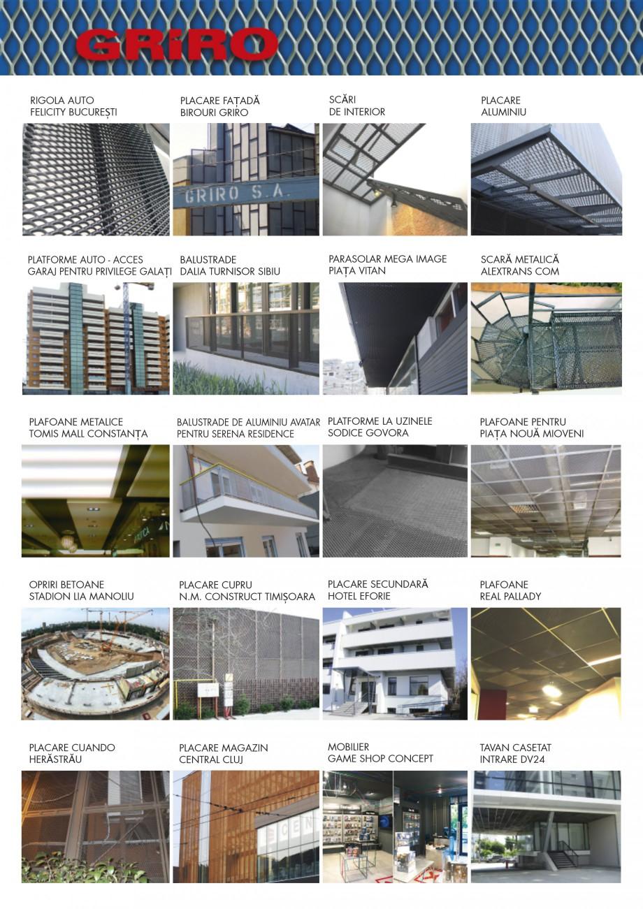 Pagina 3 - Brosura de prezentare lucrari GRIRO Tabla expandata Lucrari, proiecte Romana LACARE...