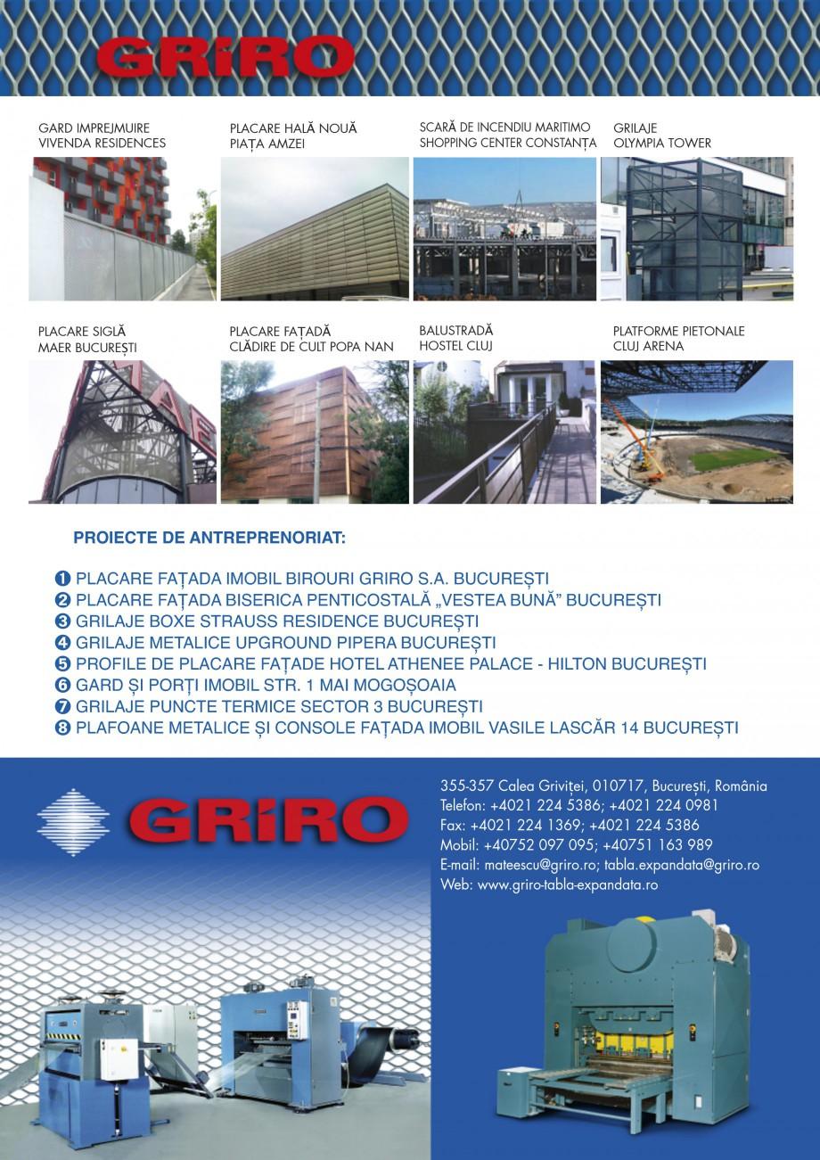 Pagina 4 - Brosura de prezentare lucrari GRIRO Tabla expandata Lucrari, proiecte Romana
