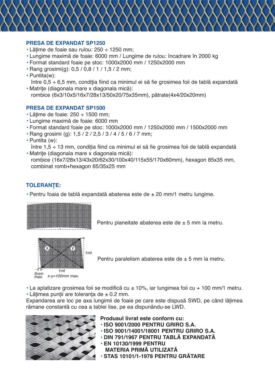 Pagina 3 - Catalog de prezentare GRIRO Tabla expandata Catalog, brosura Romana...