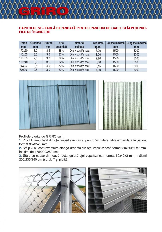 Pagina 16 - Catalog de prezentare GRIRO Tabla expandata Catalog, brosura Romana , produsele trebuie ...