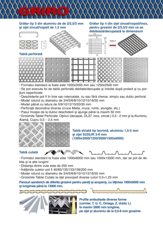 Pagina 18 - Catalog de prezentare GRIRO Tabla expandata Catalog, brosura Romana tări şi execuţii ...