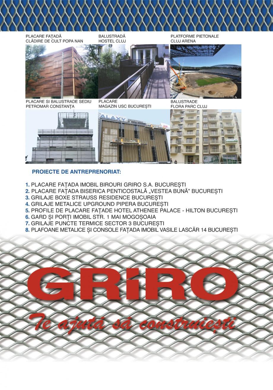 Pagina 23 - Catalog de prezentare GRIRO Tabla expandata Catalog, brosura Romana ouri de balustrada...