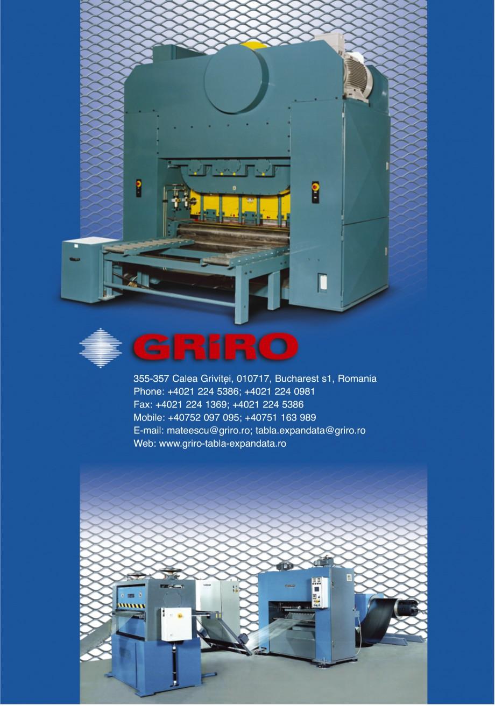Pagina 24 - Catalog de prezentare GRIRO Tabla expandata Catalog, brosura Romana incat DX51D Aluminiu...