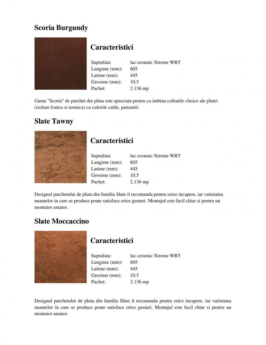 Pagina 5 - Parchet din pluta WICANDERS New Corkcomfort Linn Blush, New Corkcomfort Slate Moccaccino,...