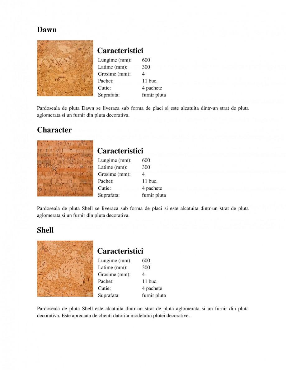 Pagina 1 - Pardoseli din pluta WICANDERS Character, Dawn, Lisbon, Natural, Shell Fisa tehnica Romana...