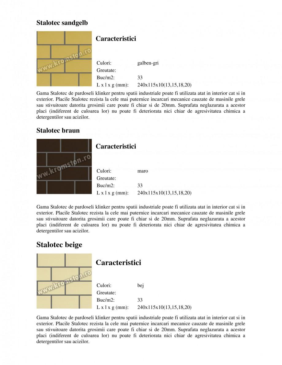 Pagina 1 - Pardoseli industriale klinker STROHER Stalotec sandgelb - Industrial, Stalotec rot -...