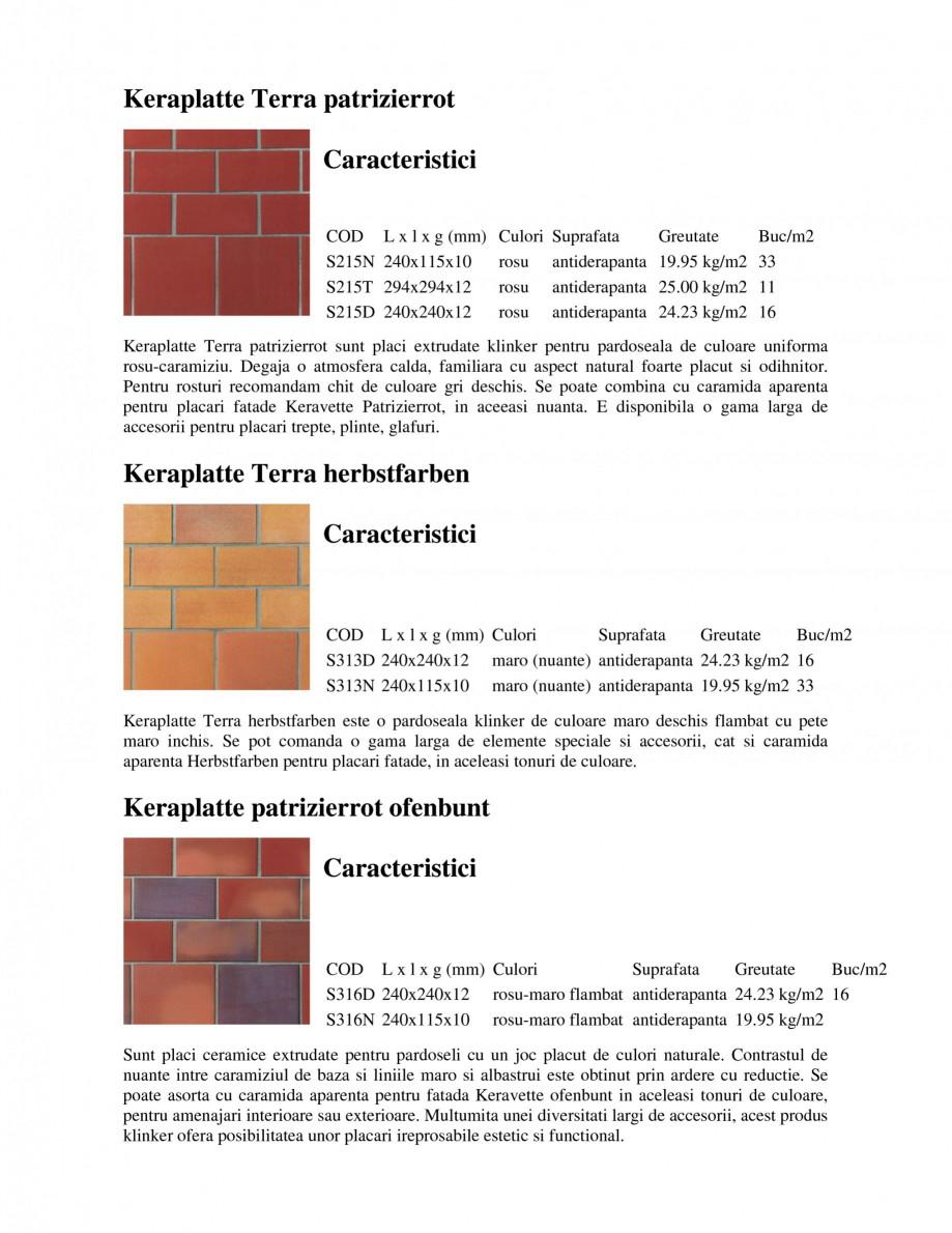 Pagina 1 - Pardoseli rezidentiale klinker STROHER Keraplatte Faccia - Rezidential, Keraplatte...