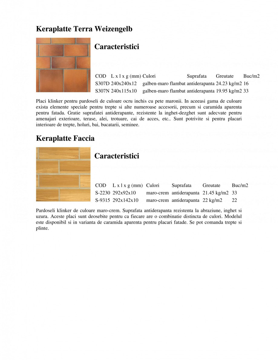 Pagina 2 - Pardoseli rezidentiale klinker STROHER Keraplatte Faccia - Rezidential, Keraplatte...