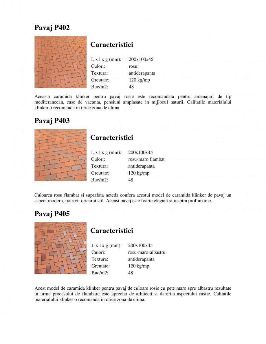 Pagina 1 - Pavaj klinker WERTHER 409 Pavaj pietonal, 405 Pavaj pietonal, 403 Pavaj pietonal, 402...