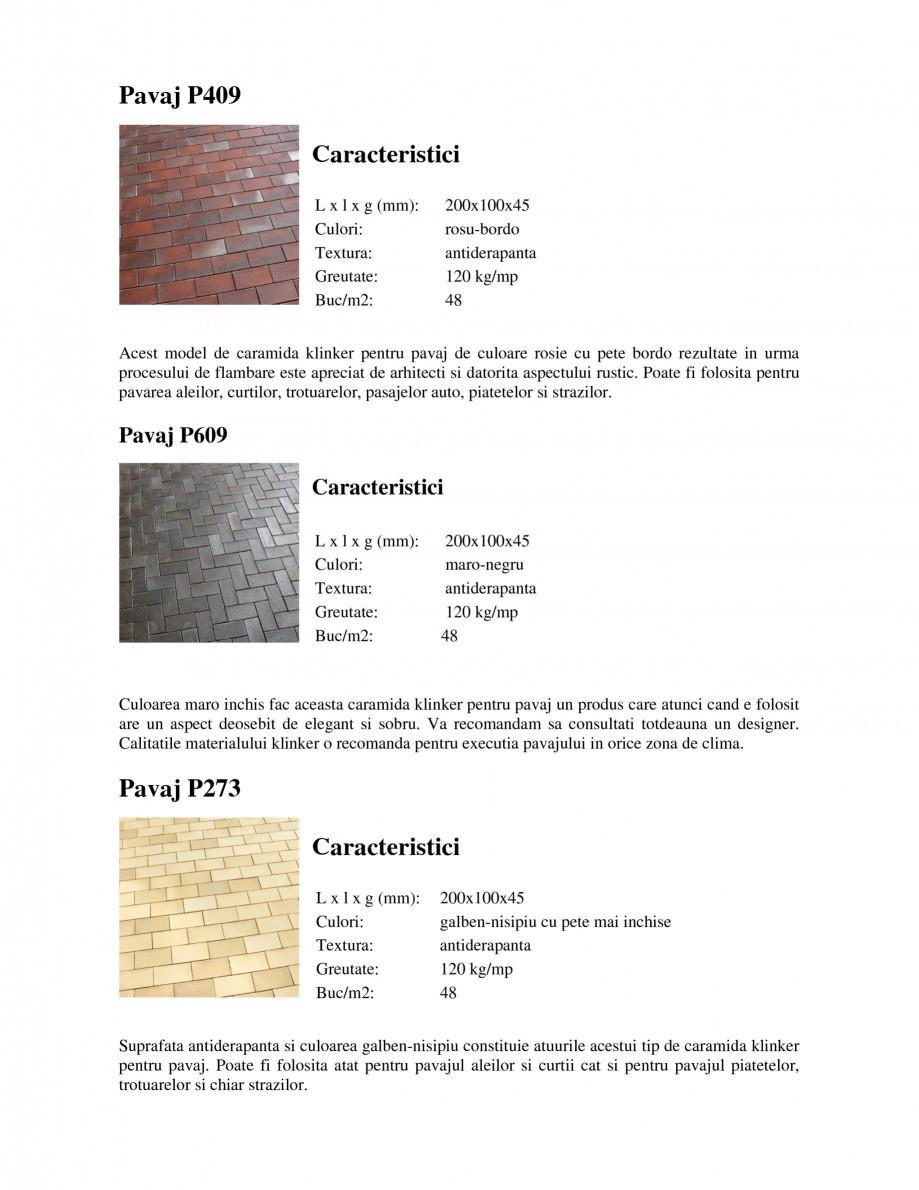 Pagina 2 - Pavaj klinker WERTHER 409 Pavaj pietonal, 405 Pavaj pietonal, 403 Pavaj pietonal, 402...
