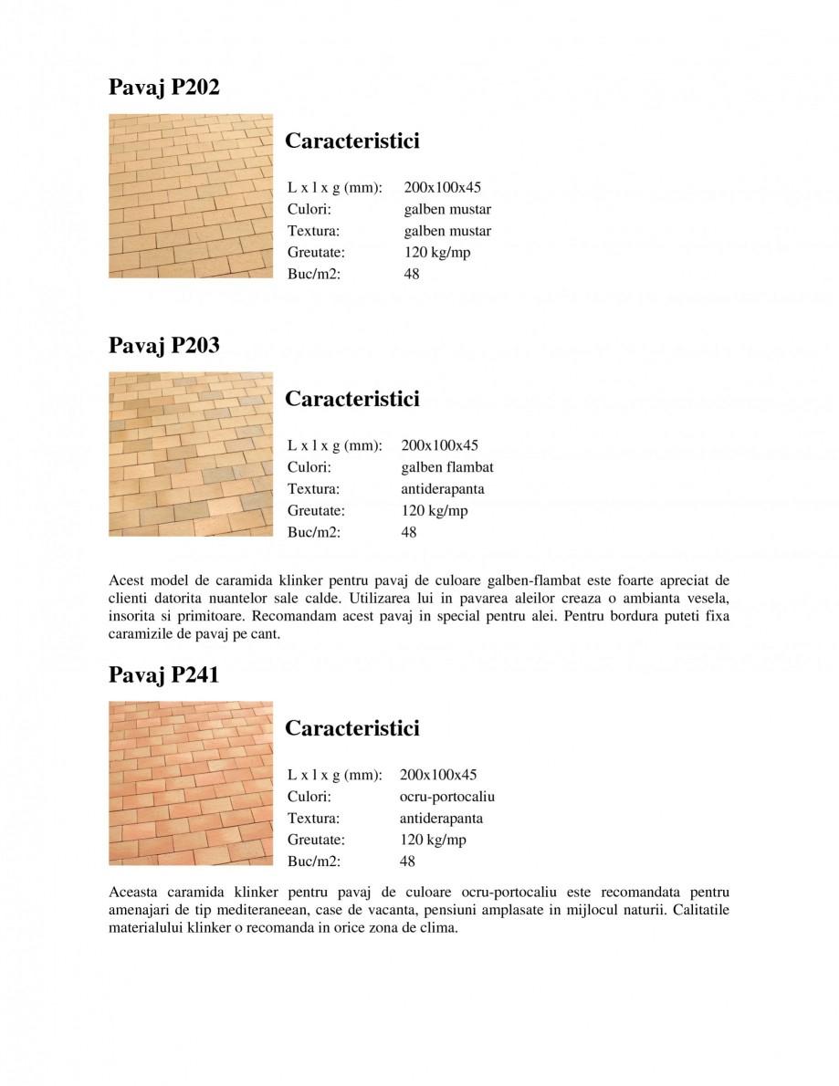 Pagina 3 - Pavaj klinker WERTHER 409 Pavaj pietonal, 405 Pavaj pietonal, 403 Pavaj pietonal, 402...