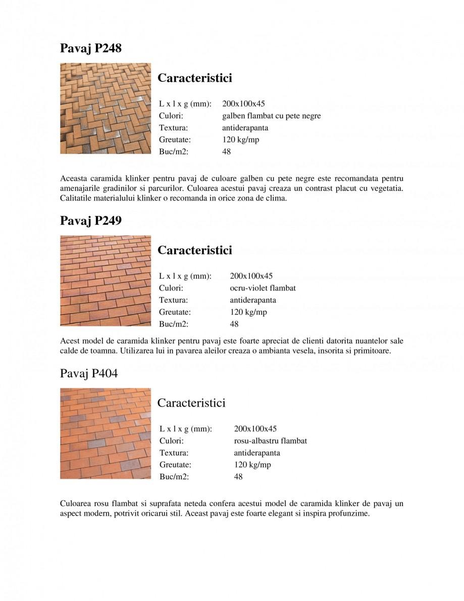 Pagina 4 - Pavaj klinker WERTHER 409 Pavaj pietonal, 405 Pavaj pietonal, 403 Pavaj pietonal, 402...