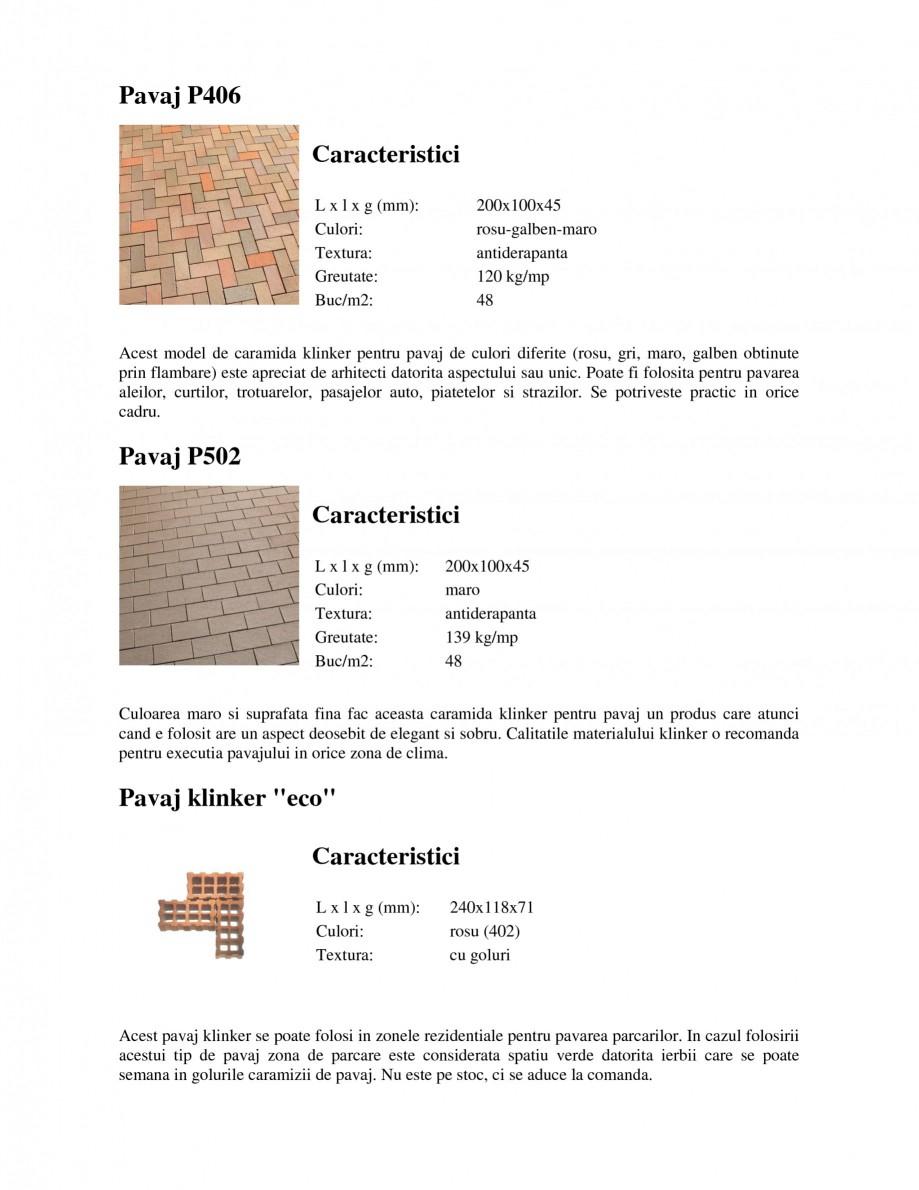 Pagina 5 - Pavaj klinker WERTHER 409 Pavaj pietonal, 405 Pavaj pietonal, 403 Pavaj pietonal, 402...