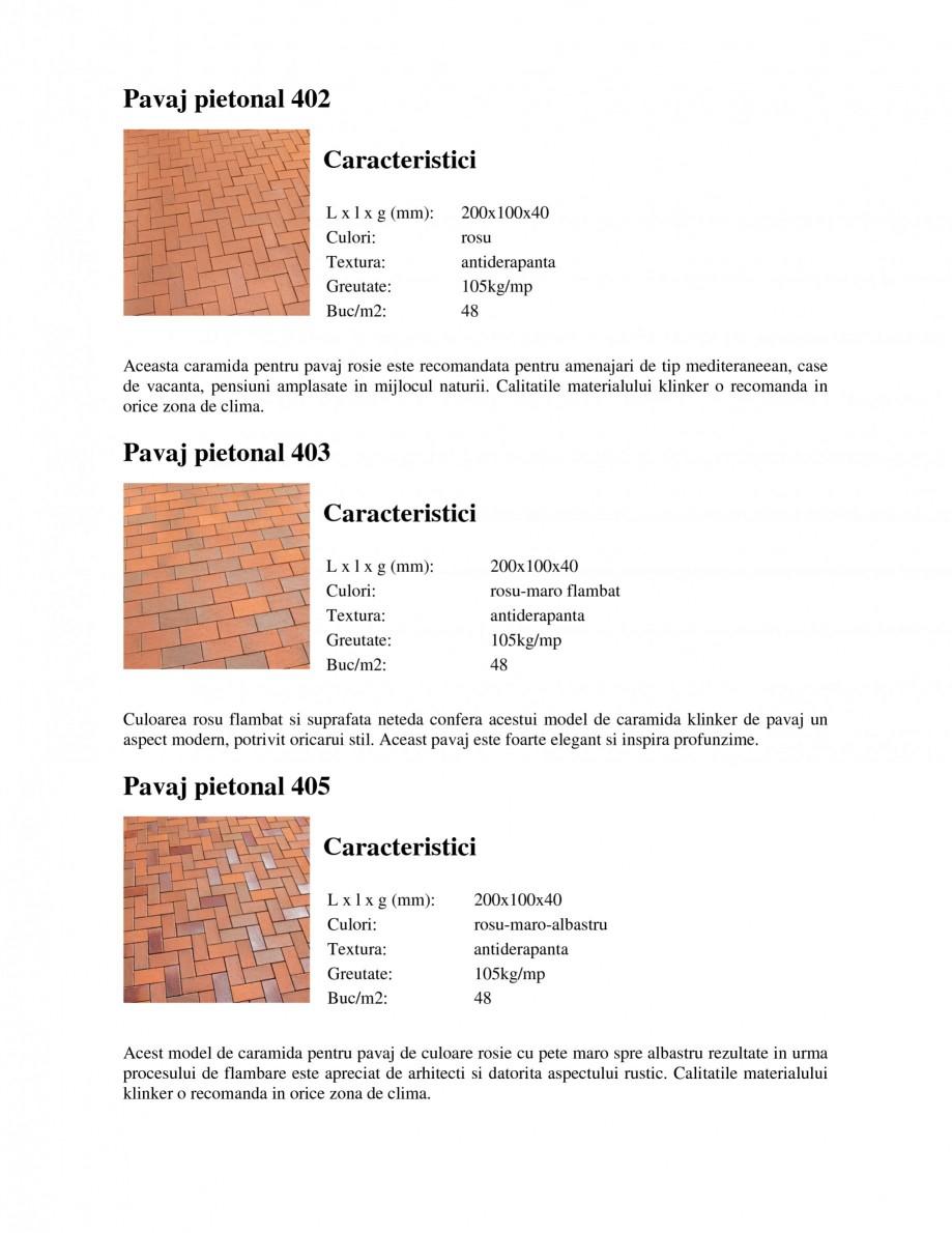 Pagina 1 - Pavaj klinker pietonal WERTHER P202 Pavaj, P203 Pavaj, P241 Pavaj, P248 Pavaj, P249 Pavaj...