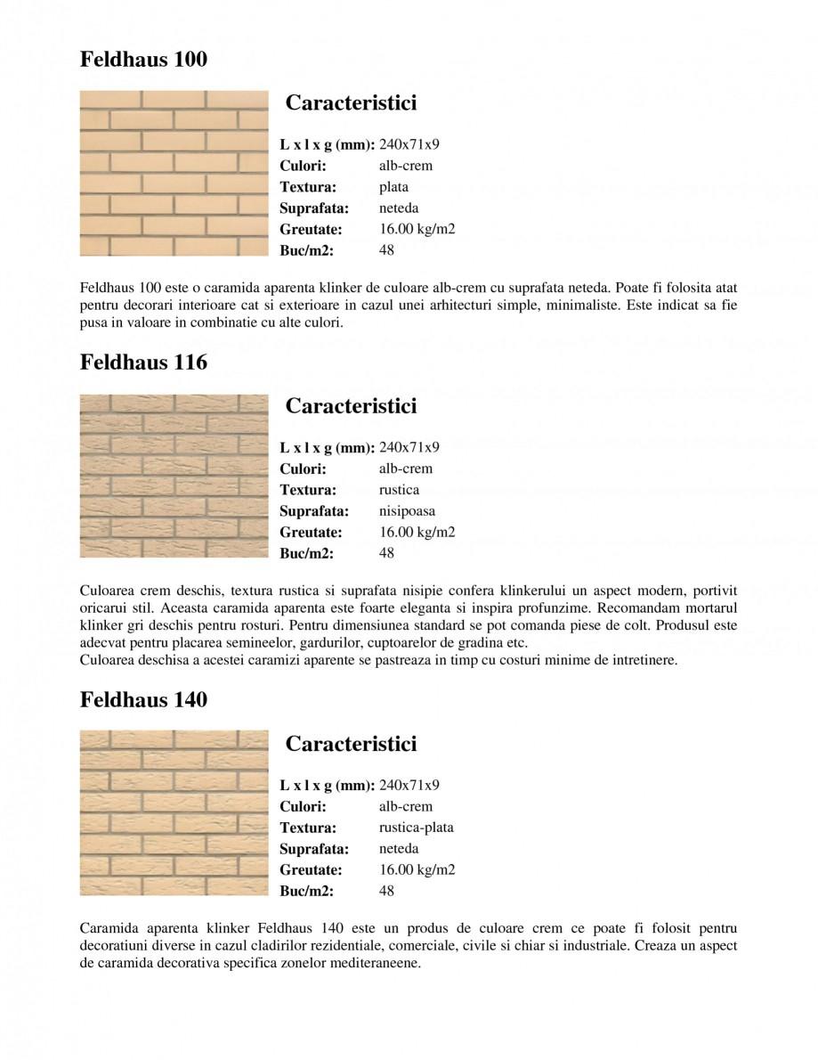 Pagina 1 - Caramida aparenta klinker FELDHAUS Feldhaus 100, Feldhaus 116, Feldhaus 140, Feldhaus 200...