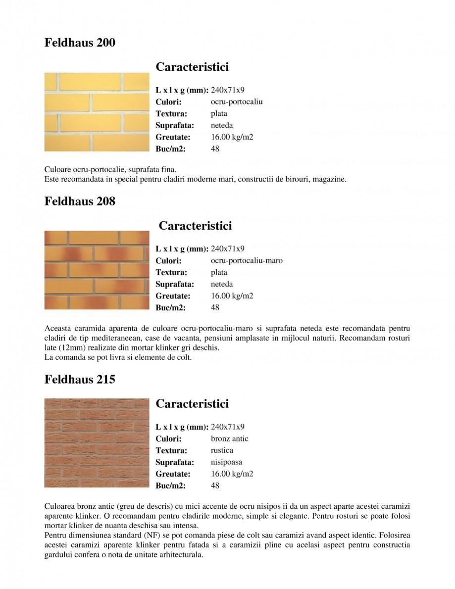 Pagina 2 - Caramida aparenta klinker FELDHAUS Feldhaus 100, Feldhaus 116, Feldhaus 140, Feldhaus 200...