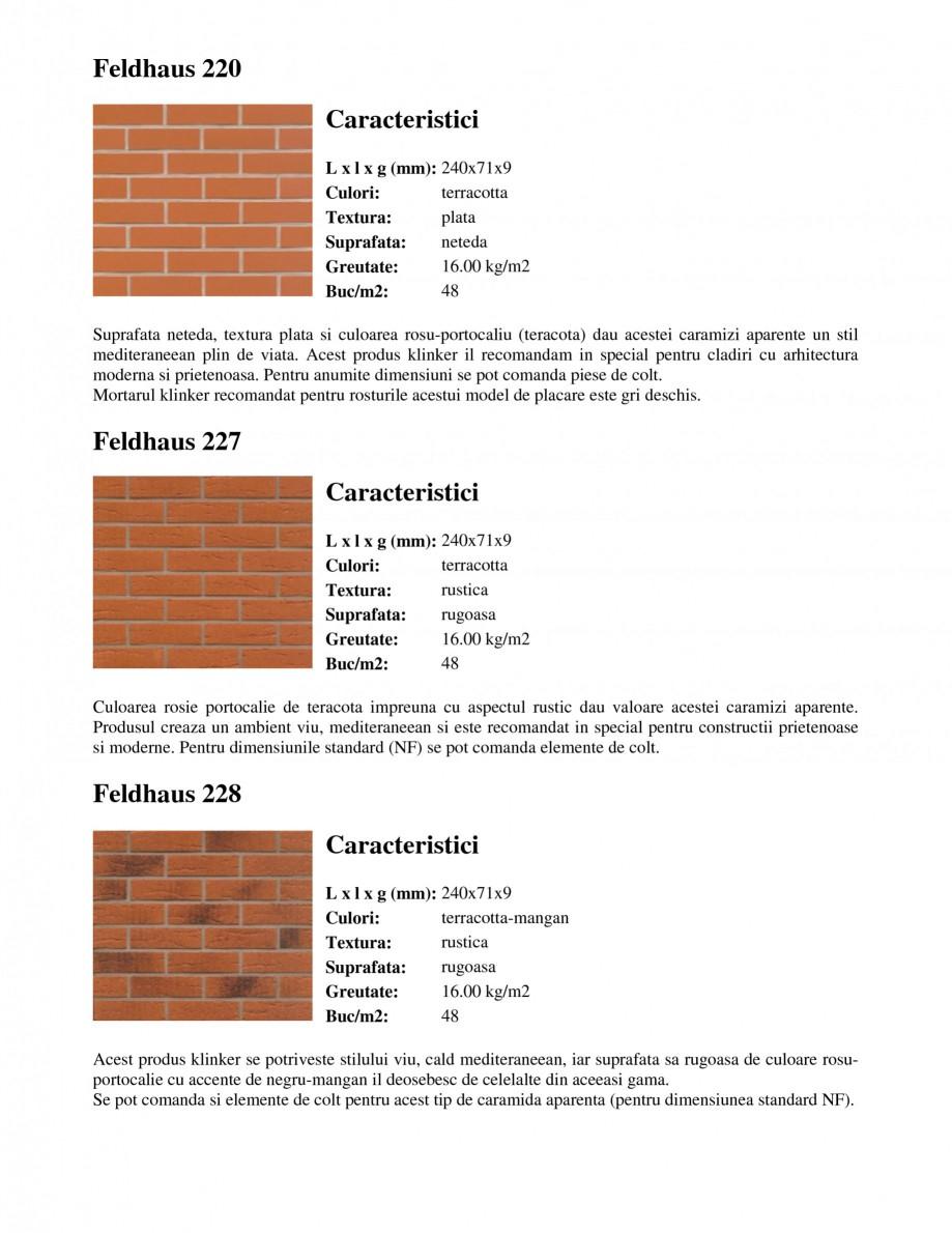 Pagina 3 - Caramida aparenta klinker FELDHAUS Feldhaus 100, Feldhaus 116, Feldhaus 140, Feldhaus 200...