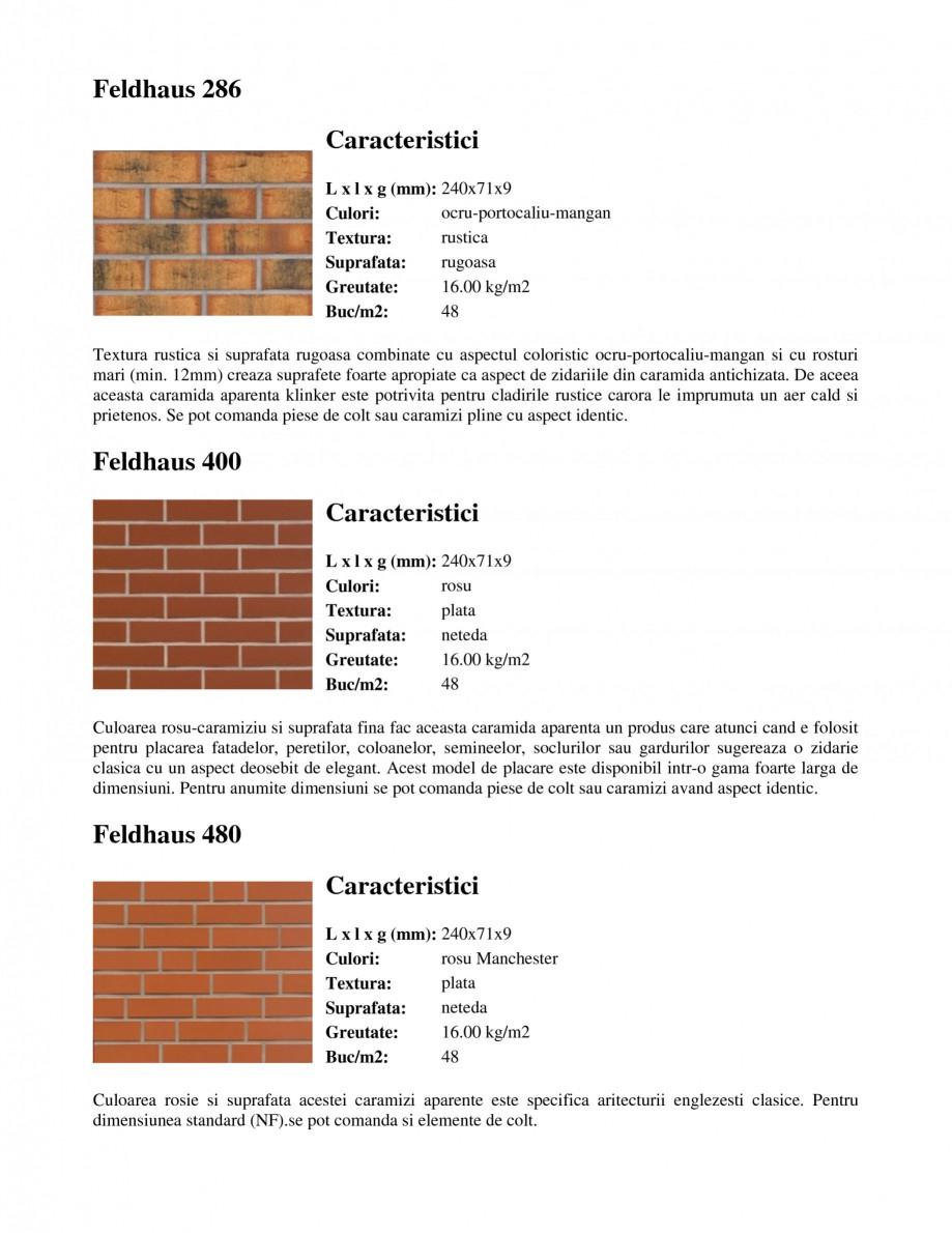 Pagina 4 - Caramida aparenta klinker FELDHAUS Feldhaus 100, Feldhaus 116, Feldhaus 140, Feldhaus 200...