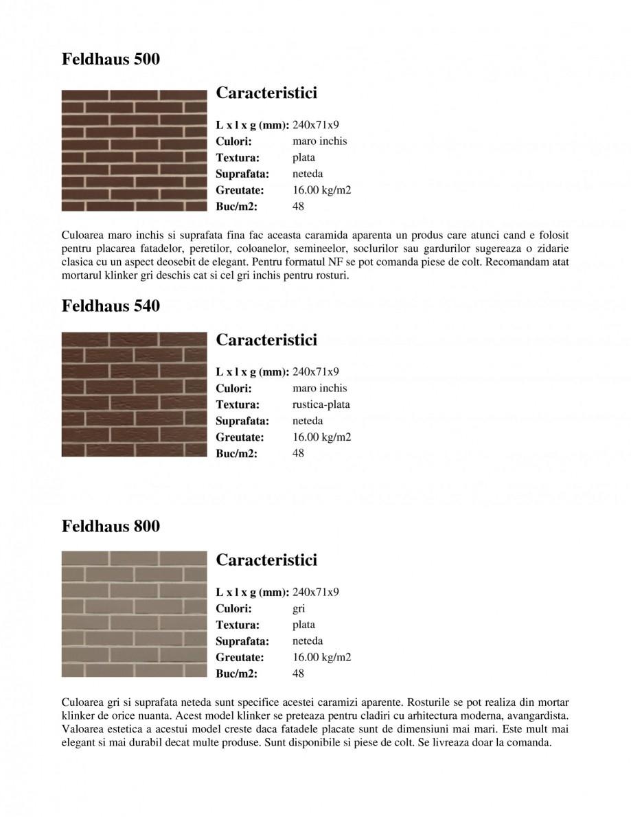 Pagina 5 - Caramida aparenta klinker FELDHAUS Feldhaus 100, Feldhaus 116, Feldhaus 140, Feldhaus 200...