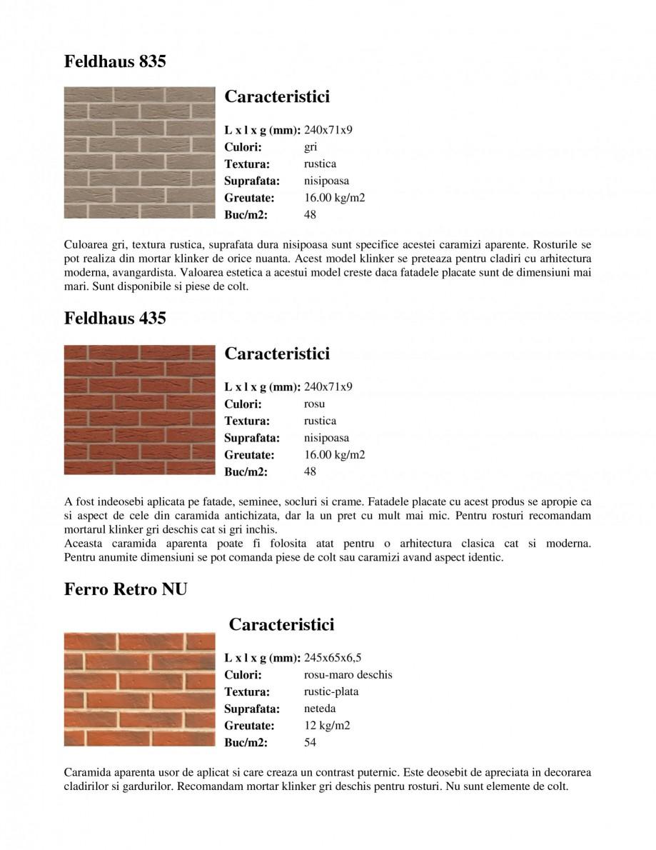 Pagina 6 - Caramida aparenta klinker FELDHAUS Feldhaus 100, Feldhaus 116, Feldhaus 140, Feldhaus 200...