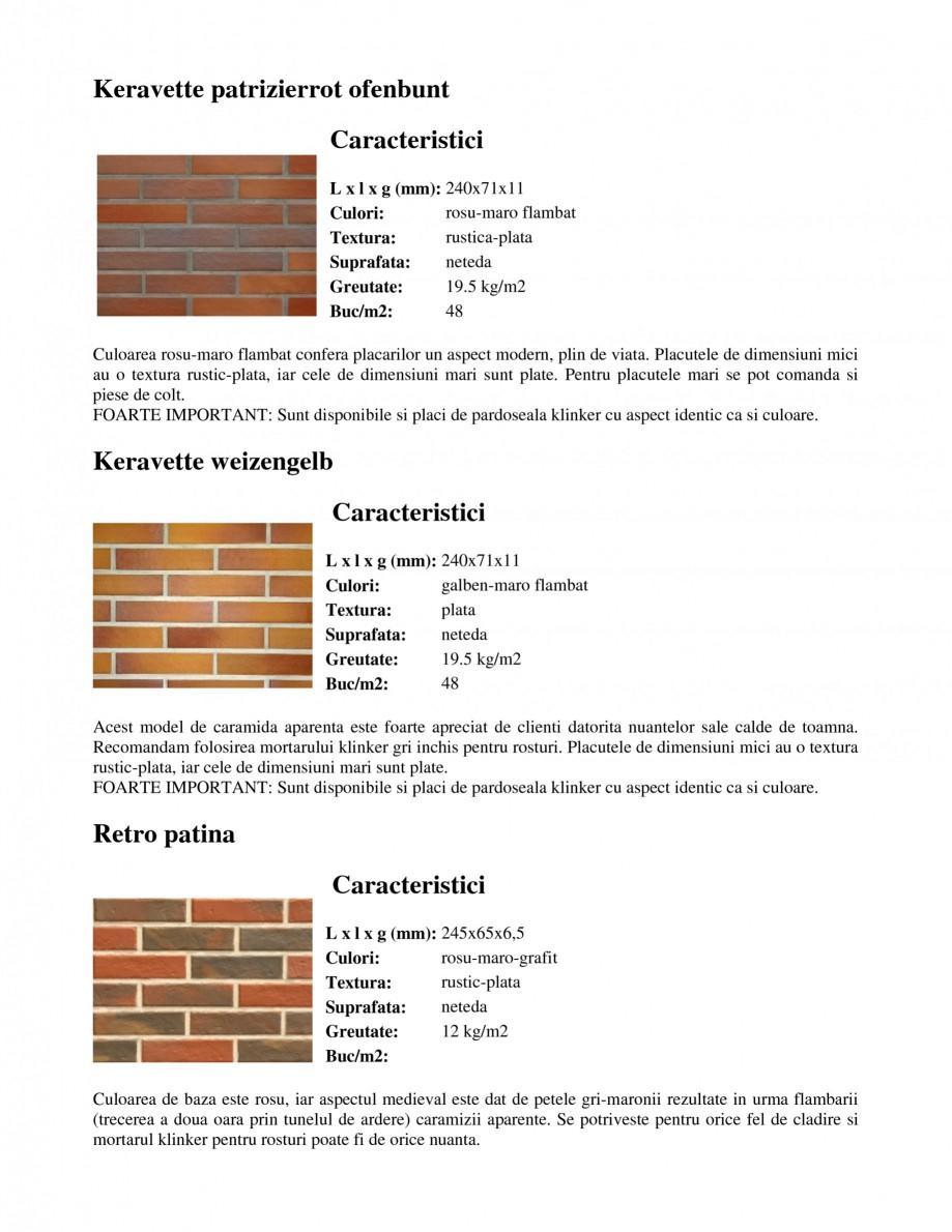 Pagina 8 - Caramida aparenta klinker FELDHAUS Feldhaus 100, Feldhaus 116, Feldhaus 140, Feldhaus 200...