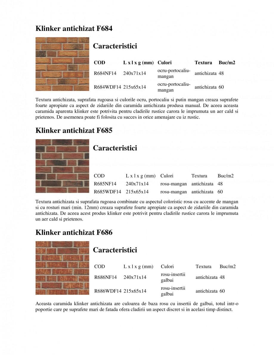 Pagina 1 - Caramida aparenta klinker antichizat FELDHAUS SINTRA F684, SINTRA R687, SINTRA F697,...
